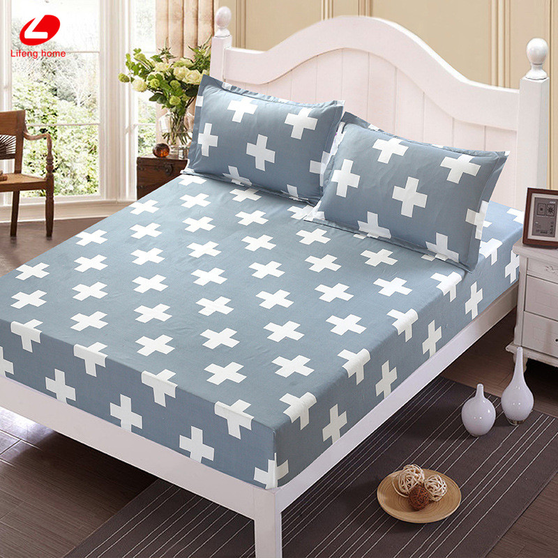 Home textile bed sheet sheet flower mattress cover printing bed sheet elastic rubber bedclothes 180*200cm summer bedspread band 48