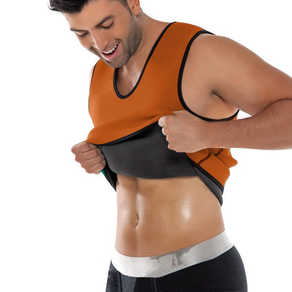 Fitness Body Neoprene Slimming Vest Men Slimming Corset Shoulder Waist Trainer Slimming Products Fat Burning Stomach Weight Loss