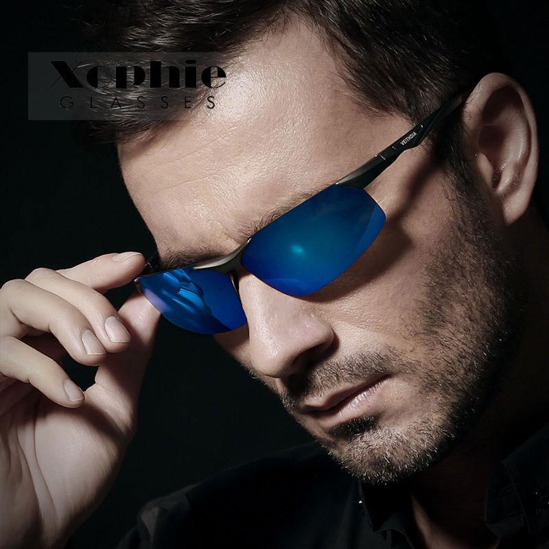 XINFEITE Brand Men Pilots Aluminum Polarized Light UV400 Sunglasses Fishing Driving Sports Glasses