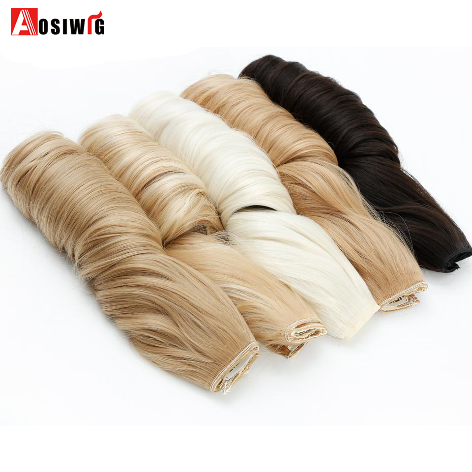 SHANGKE-28-Long-Wavy-5-Clip-In-Hair-Extensions-Heat-Resistant-Synthetic-Fake-Hairpieces-Natural-False