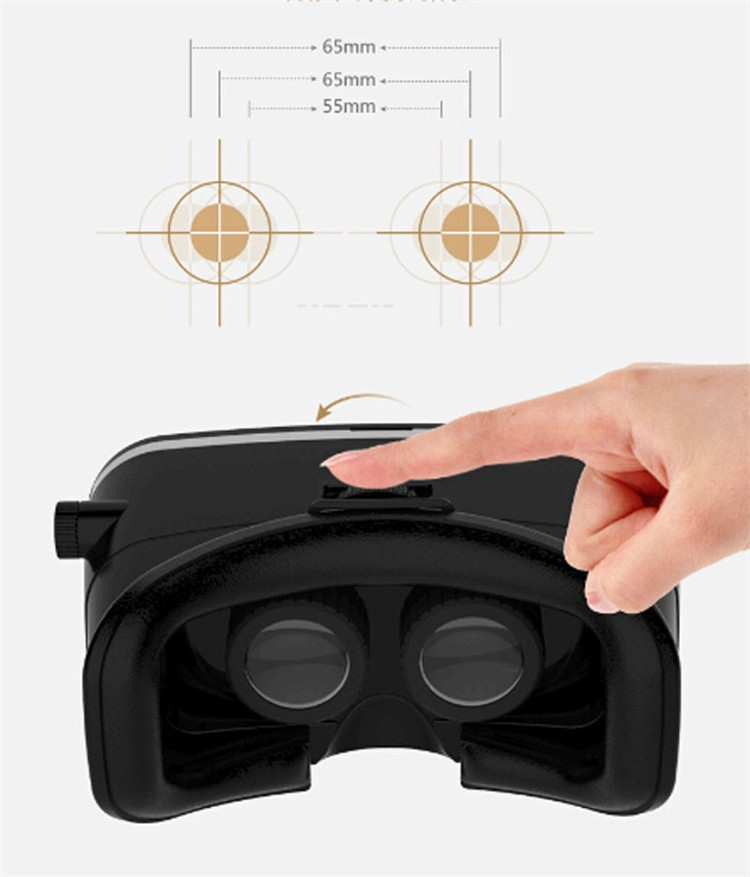 Real 3D Glasses Cardboard!Adjustsble 3D VR Box Virtual Reality Movie Game Glasses  For 4.0-6.0 inch Phone + Bluetooth Remote Control (10)
