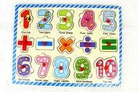 бесплатная доставка детские деревянные буквы игрушка-зал, детские развивающие деревянные цифровые зал, детские montessor игрушки обучающие материалы