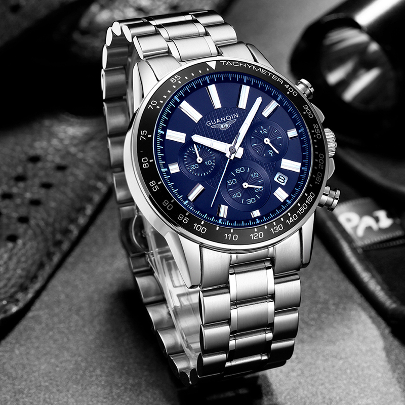 buy 2017 mens montres haut marque de luxe guanqin d 39 affaires montre quartz en