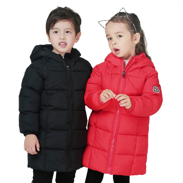 Get Discount Price Down Jacket For Girls Boy Coat Children's Down Jackets For Boys Girl Winter Jackets Kids Outer Wear Coats Down Parkas YCOC1811-1