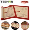 TEENRA 2Pcs Set Non Stick Macaron Baking Mat Silicone Mats Baking Liner Heat Resistant Baking Sheet
