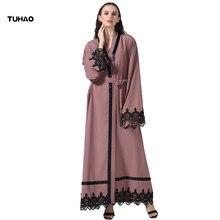 TUHAO 2017 New Winter Autumn Female Musilim Dress Cardigan Vestido Elegant  Vintage Maxi Long Lace Women Plus Size Clothing ST33 f97263914441
