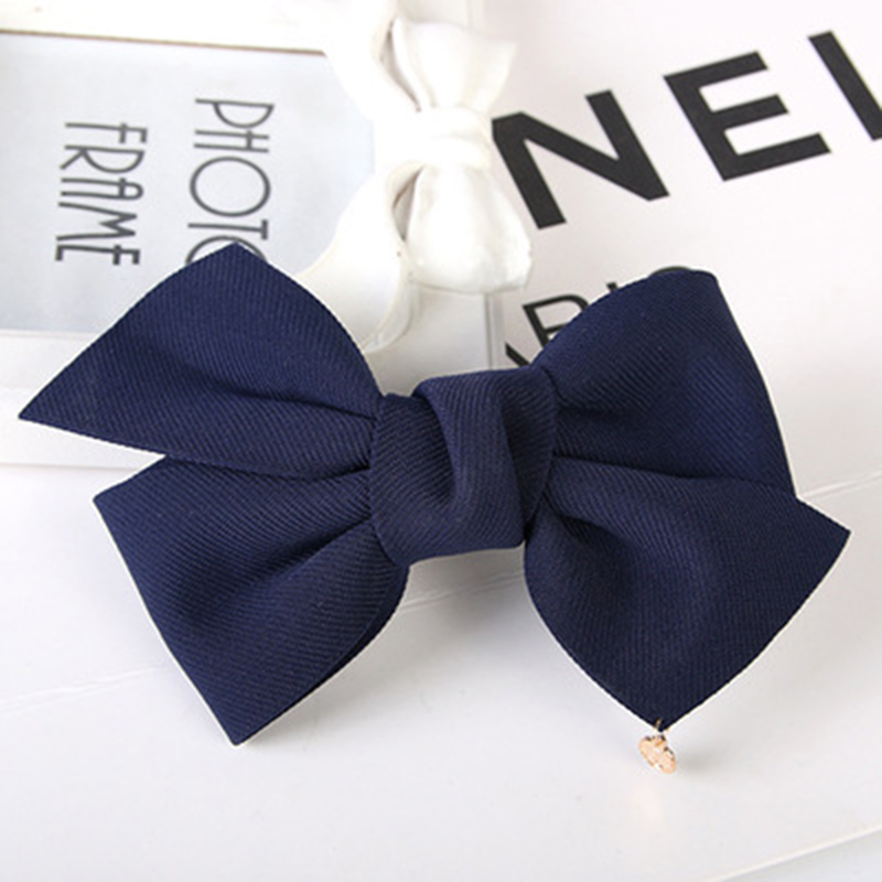 7 Solid Colors Great Cloth Bow Knot Small Ornament Pendant Hair Clips Girls Women Barrettes Headwear small great things