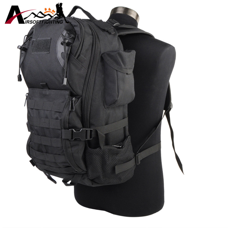 35L 600D Military Assault Pack Tactical Backpack Army Nylon Molle Waterproof Bug Out <font><b>Bag</b></font> <font><b>Outdoor</b></font> Hiking Camping Hunting Rucksack