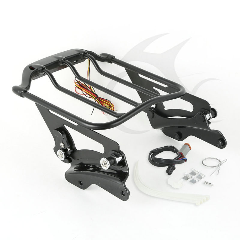 Detachable Luggage Rack & Docking Hardware Kits For Harley Touring Glide 2014 15 luggage