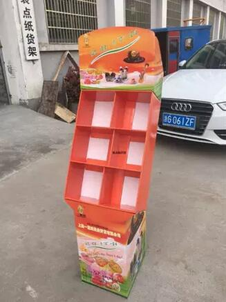 Cardboard Exhibition Stand,supermarket Retail Display Shelf