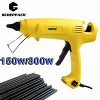 Crazy Power 150W 300W Hot Melt Glue Gun EU Plug Adjustable Professional Copper Nozzle Heater Heating