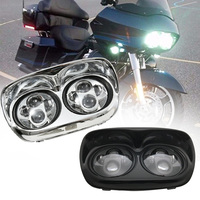5.75 INCH LED Headlight Black Daymaker Lamp With Angle Eye For Harley Road Glide 03 13