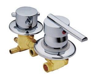 Customize 2-5 способ воды на выходе медный смеситель для душевой комнаты, смеситель для душа смесительный клапан насадка для душевой кабины, лату...
