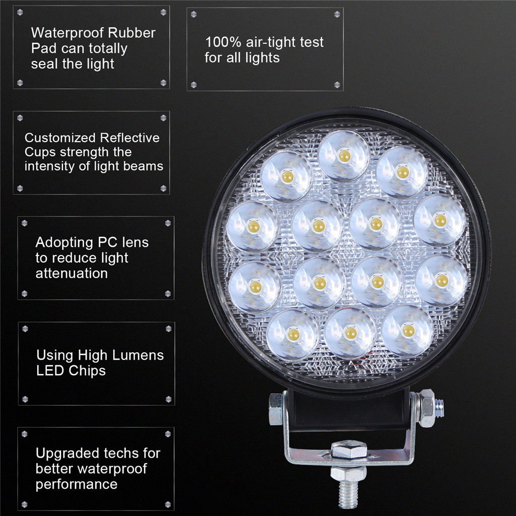 Image 4 - Luces Led Para Auto 2x LED Work Light Pods 4 Inch 140W Round Spot Beam Offroad Driving Light Bar LED Lamps For Cars-in Light Bar/Work Light from Automobiles & Motorcycles