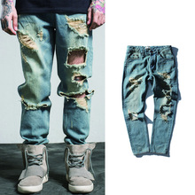 Men Jeans Denim Pants masculino Trousers Male Fashion hole Zipper Fly Jean Pant Casual Brand Clothing