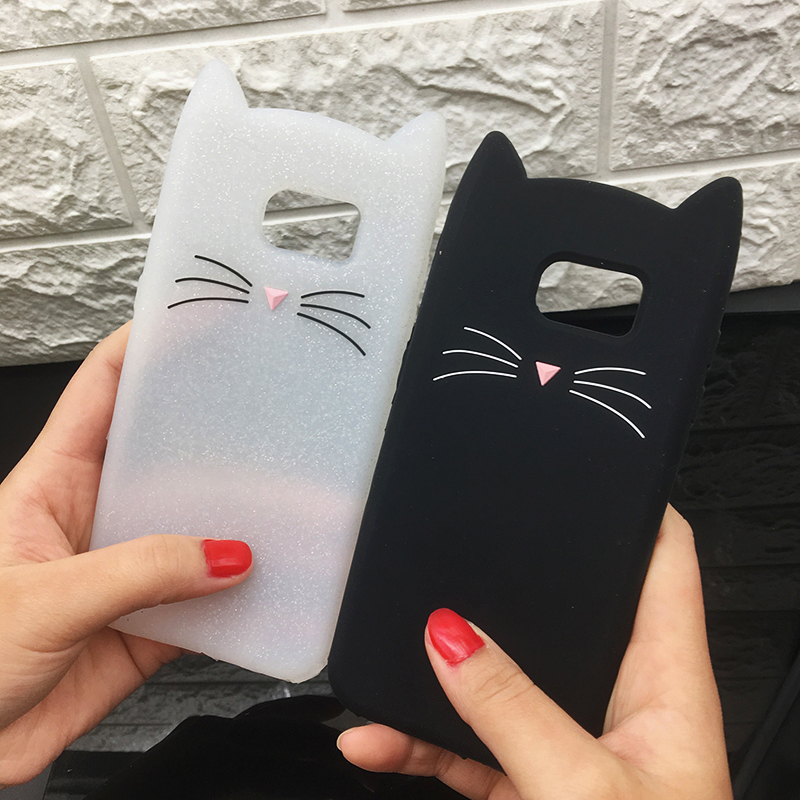 For Samsung J3 J5 2017 EU J7 pro 2017 Case Cute Cartoon Cat Cases 3D Silicone Soft Back Cover Funda For Galaxy J530 Phone Cases (1)