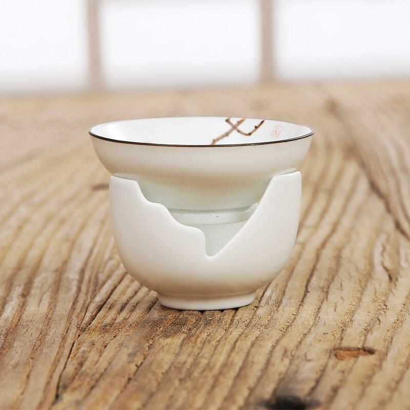 Hand-painted tea leak filter ceramic tea filter tea Kung Fu tea set W $