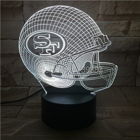 San Francisco 49ers 3D LED Night Light NFL American Football Club Lamp USB Light Table Decor Bedside Nightlight by Touch control premier league liverpool football club chrome 42 inch pub table