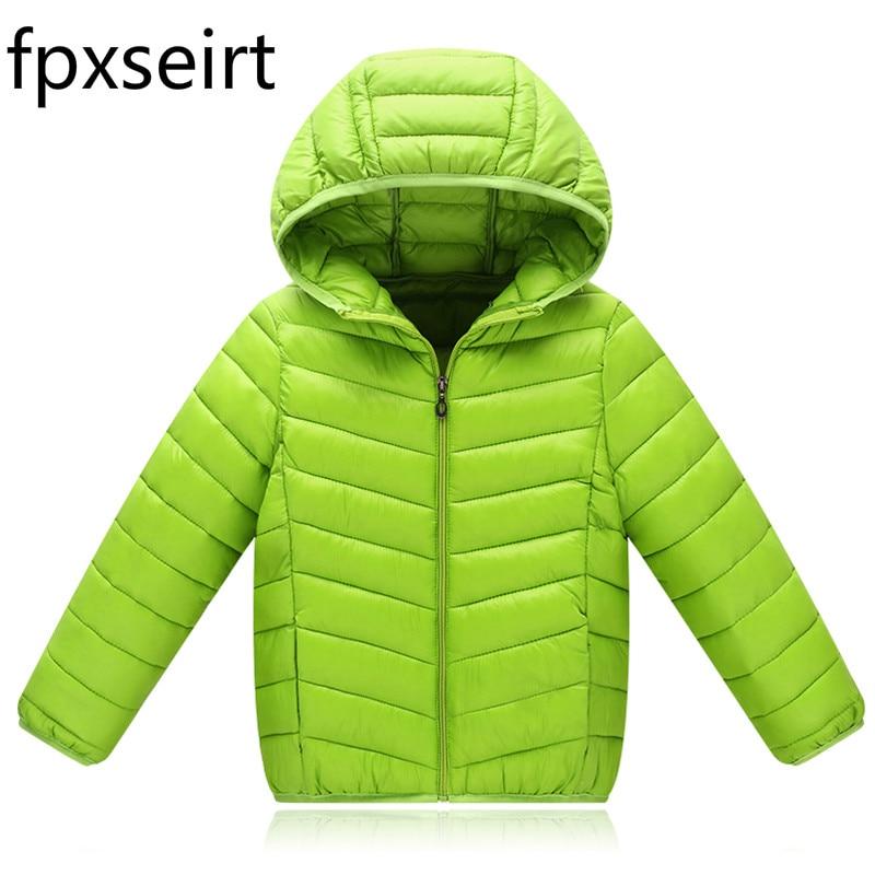 2017 New Children s Autumn winter Cotton Boys and Girls Short Section Winter Jacket Children s
