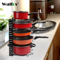 Pan Organizer Pot Rack Lid Holder Cookware Holders Adjustable Heavy Duty Cabinet Pantry Kitchenware For Kitchen