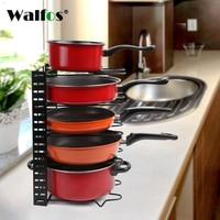 WALFOS Organizer Pan Cutting Board Holder Dishes Rack Stand Metal Storage Shelf Drainer Sink Organizer Kitchen Accessories