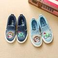 No outono de 2016 um novo das crianças sapatas de lona sapatos para homens denim sapatos casuais sapatos de bebê antiderrapante-em
