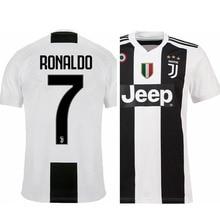 Ronaldo Juventus Jersey Cristiano Ronaldo Home Jersey #7 2018 2019 New Design t shirts men
