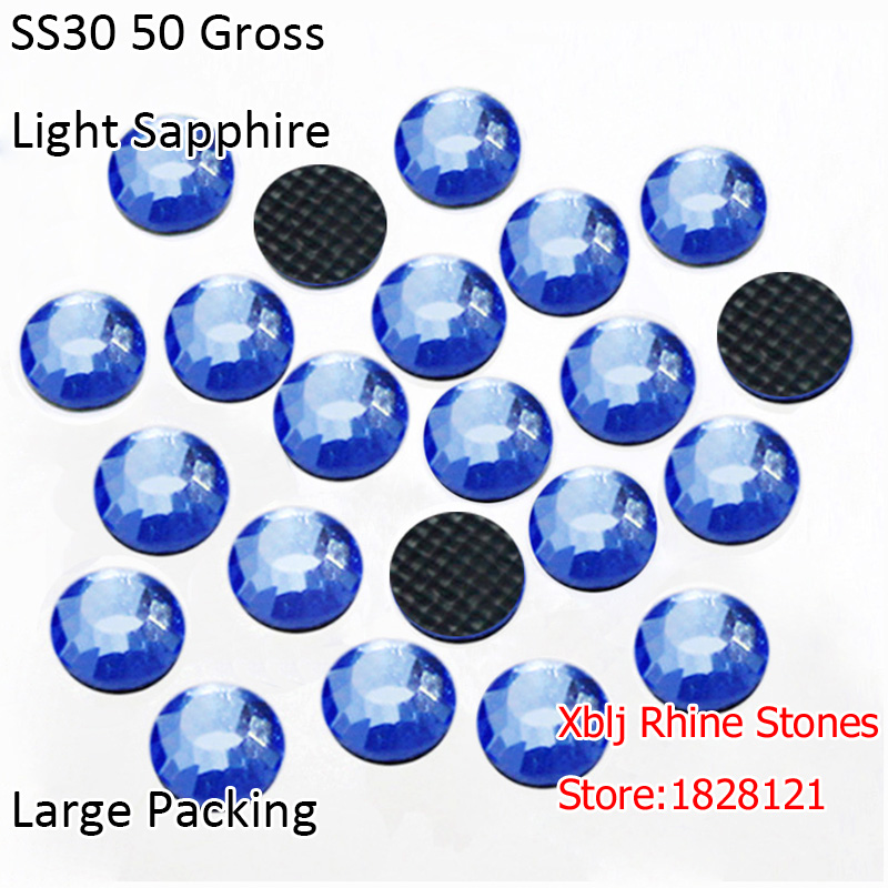 Large Packing Hotfix Rhinestones 50 Gross 6mm SS30 Light Sapphire DMC Grade  Hot Iron on Design Strass Stones For DIY Decoration-in Rhinestones from  Home ... 7aa55786019e