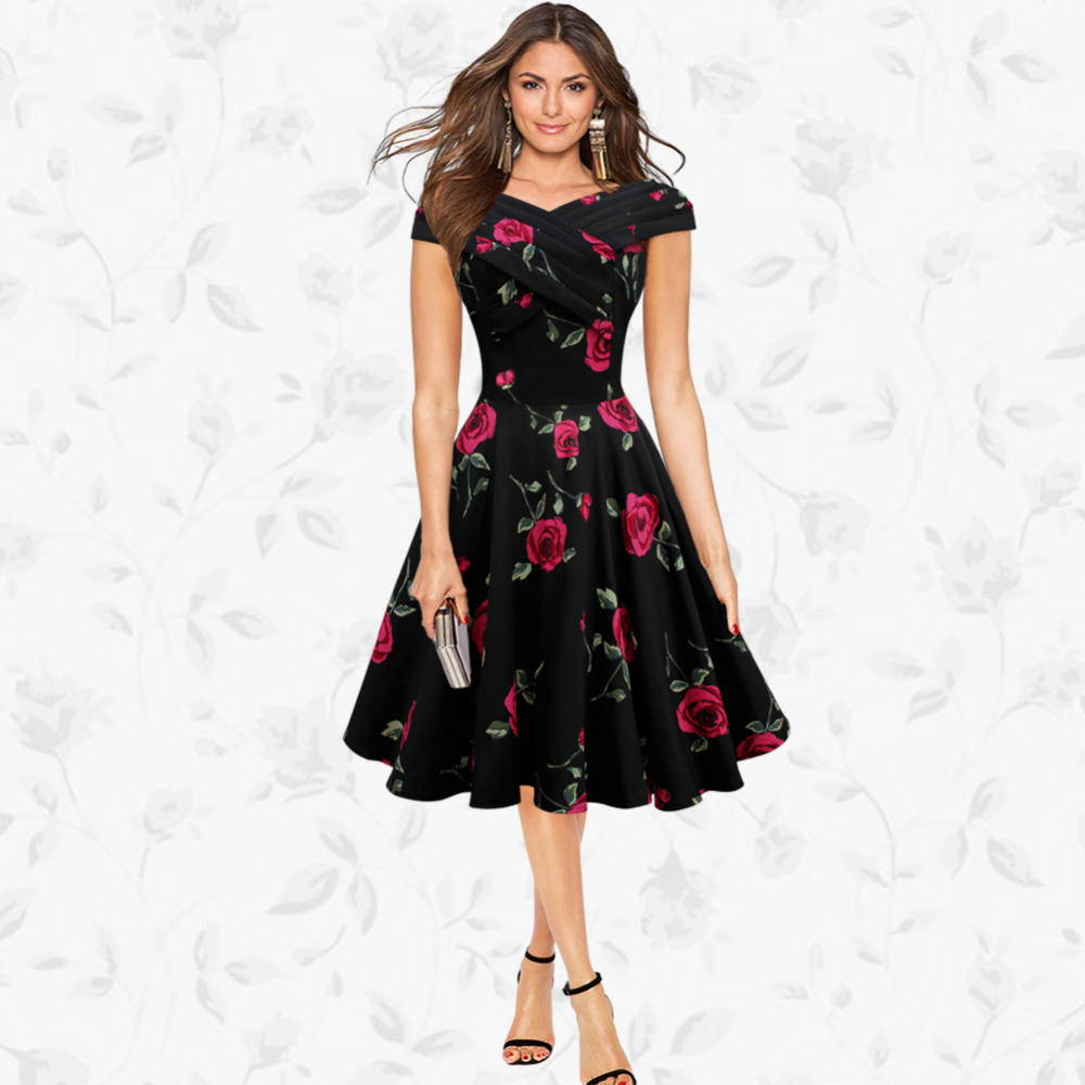Europe And The United States Womens Plus Size New Summer Dresses