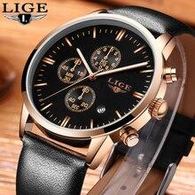 LIGE Mens Relojes de Primeras Marcas de Lujo Reloj de Los Hombres Casual Reloj Hombre Cronógrafo de Cuarzo Militar Relojes Deportivos Relogio masculino