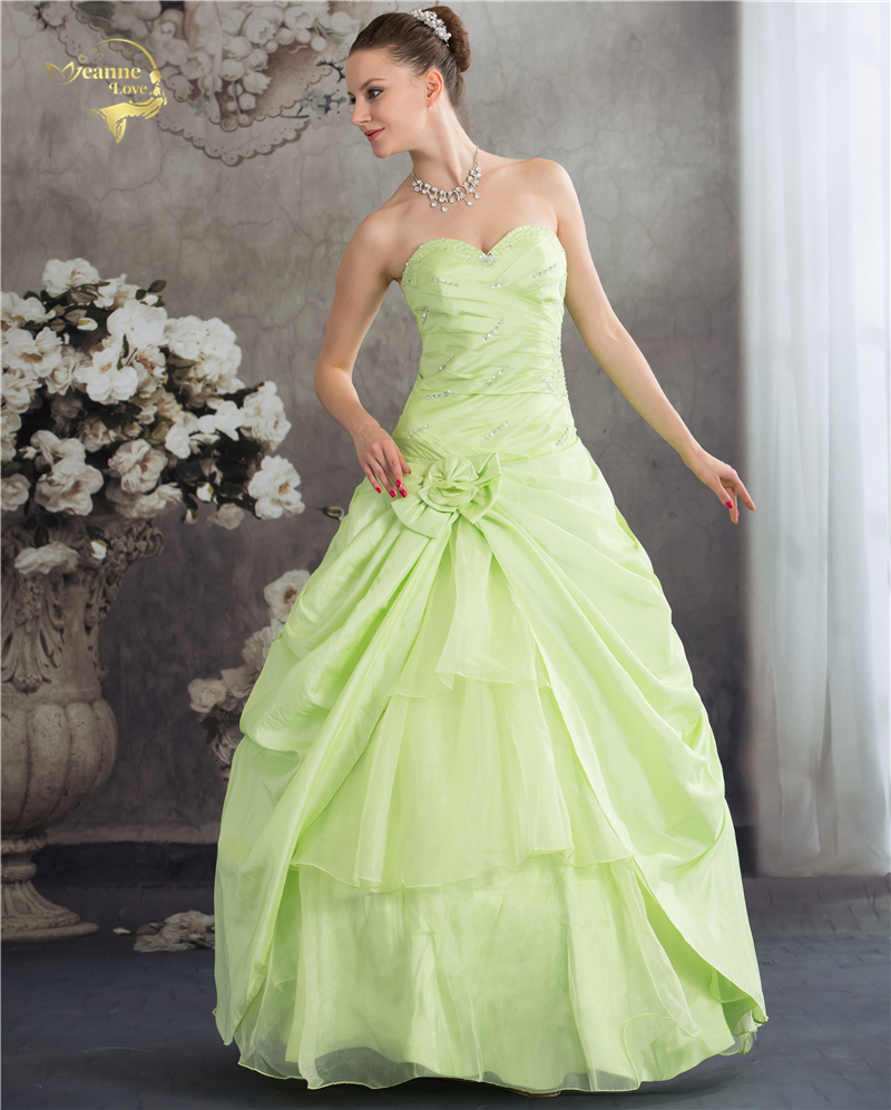 Jeanne Love Royal Sweetheart A Line Wedding Dresses 2019: Jeanne Love New Arrival Prom Dresses 2019 A Line Green