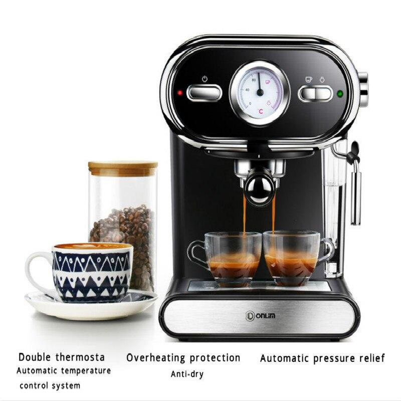 Machine à café expresso DL-KF5002 Donlim machine à café semi-automatique type vapeur 20Bar