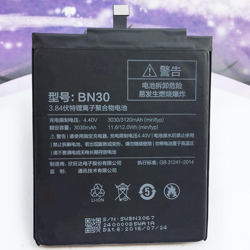 Battery-Bn30 Phone-Replacement-Batteries Xiaomi 3120mah Redmi 4a Original For Li-Polymer