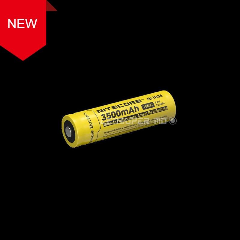 Original Nitecore NL1835 High discharge performance 18650 Li-ion Rechargeable Battery 3500mAh for Portable Lighting inr18650 35e turmera for samsung 18650 3500mah 13a discharge inr18650 35e 18650 battery li ion 3 7v rechargable battery
