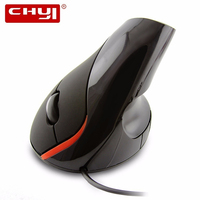 CHYI Vertical Ergonomic Computer Mouse Optical Wired USB Cable Stand Gaming Mause 1600 DPI 3D PC Gamer Mice For Laptop Macbook