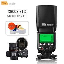 Pixel X800S Standard Wireless GN60 TTL HSS Macchina Fotografica Flash Speedlite Per Sony A7 A77 A7R RX1 A6000 A6300 DSLR Vs x800N Yongnuo