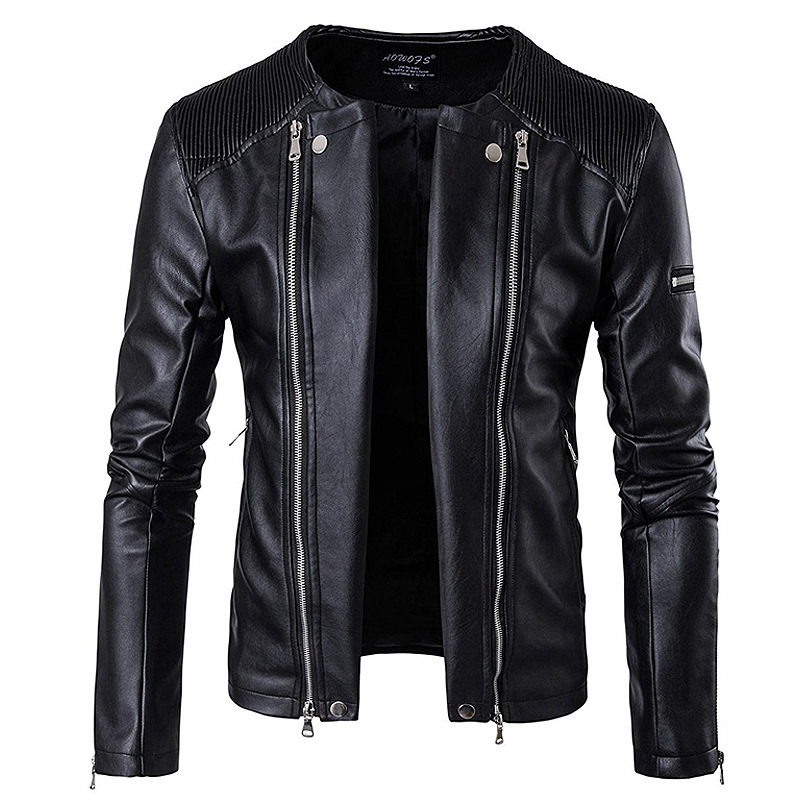 Zogaa 2019 New Autumn Men's PU Leather Jacket for Men Fitness Fashion Male Moto & Biker Casual Casaco Masculino Male Clothing(China)