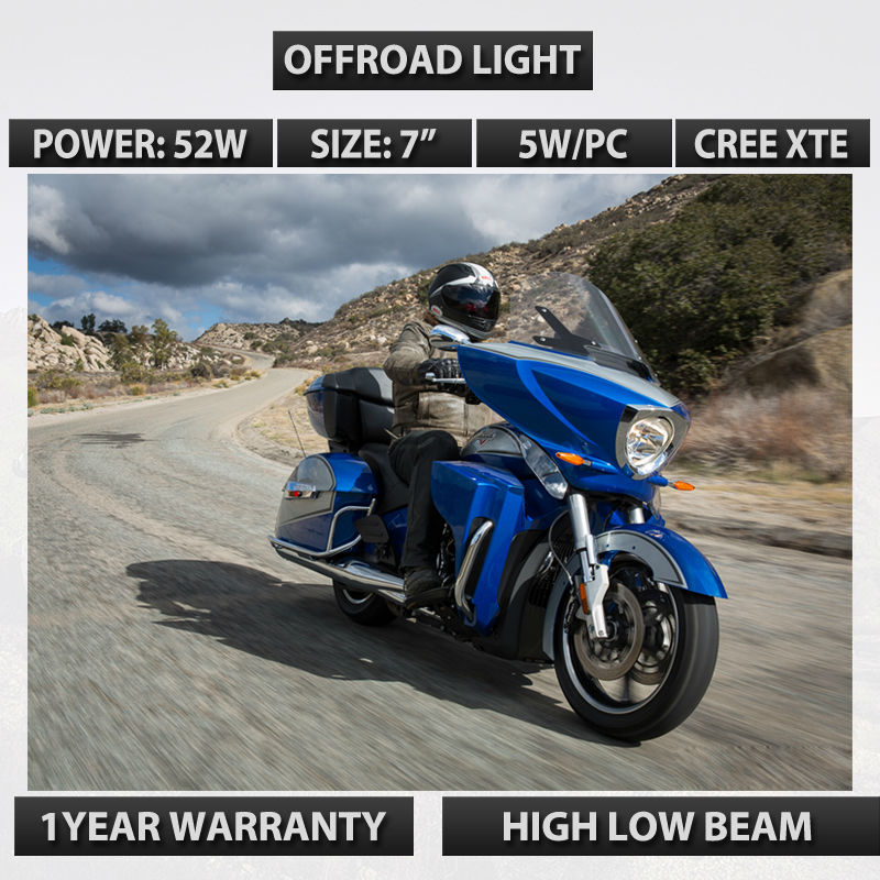 12V  HEADLIGHT USED FOR VICTORY MOTORCYCLES 12V 24V HIGH LOW BEAM 24v HEADLAMP KITS SUPER BRIGHT LED DRIVING BEAM CROSS COUNTRY gp2301 tc41 24v used 100