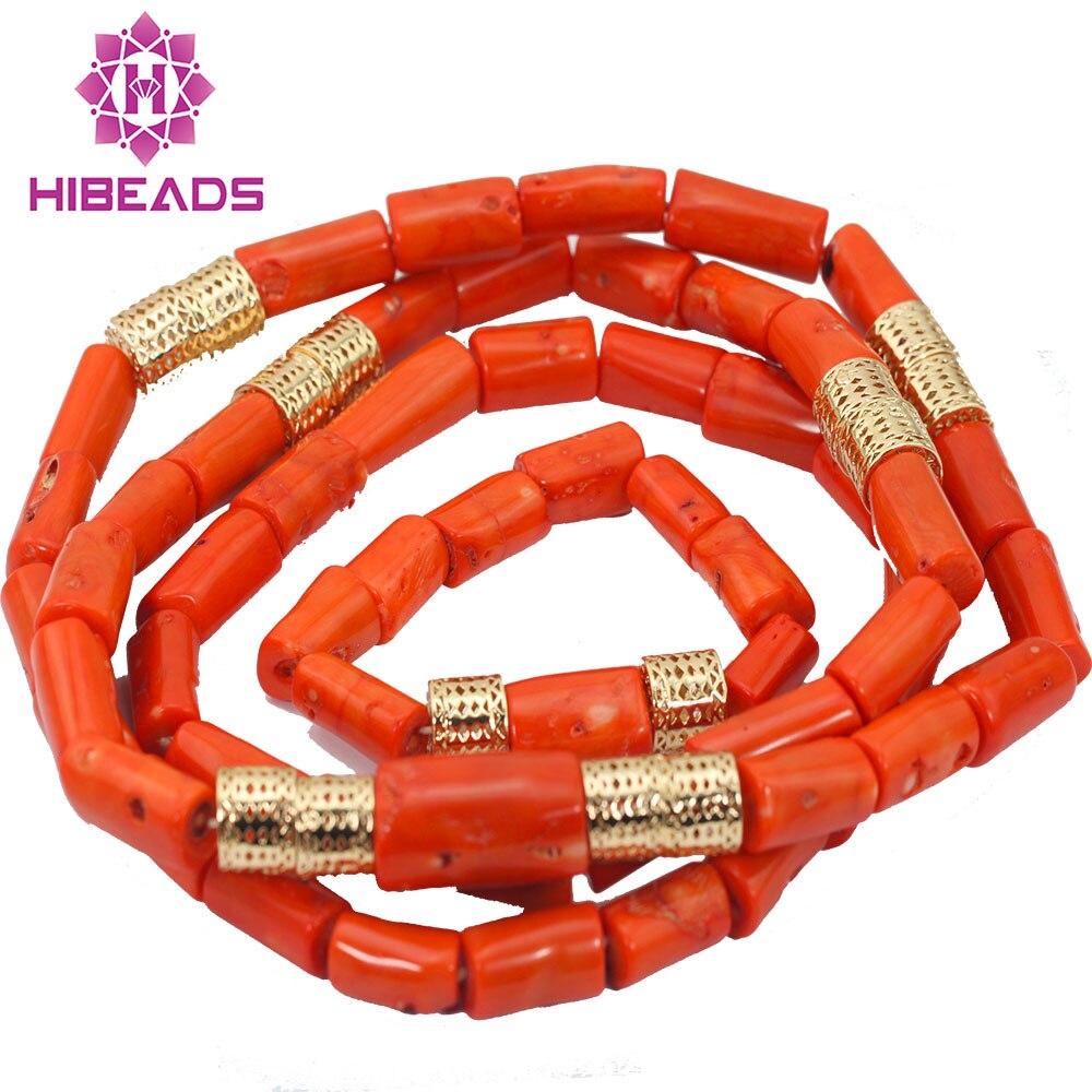 """Здесь продается  2017 New Nigerian African Wedding Groom Beads Natural Coral Beads Set Necklace Jewelry Set 54""""inches For Men Free ShippingABL984  Ювелирные изделия и часы"""
