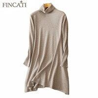Women Sweater 2017 High Quality 100 Pure Cashmere Deep V Neck Aysmmetrical Split Hem Casual Long