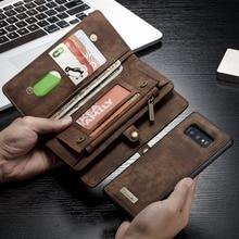 สำหรับFunda Samsung Galaxy A50 ซิปกระเป๋าสตางค์ฝาครอบแม่เหล็กหนังแท้สำหรับGalaxy A51 S20 Plusหมายเหตุ 10 s9 A71 A70