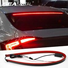 12 В автомобиля светодиодные ленты тормозные огни для автомобиля 90 см поток сзади хвост, предупреждение свет DRL Дневные бег свет Автомобильная противотуманная лампа салонные аксессуары