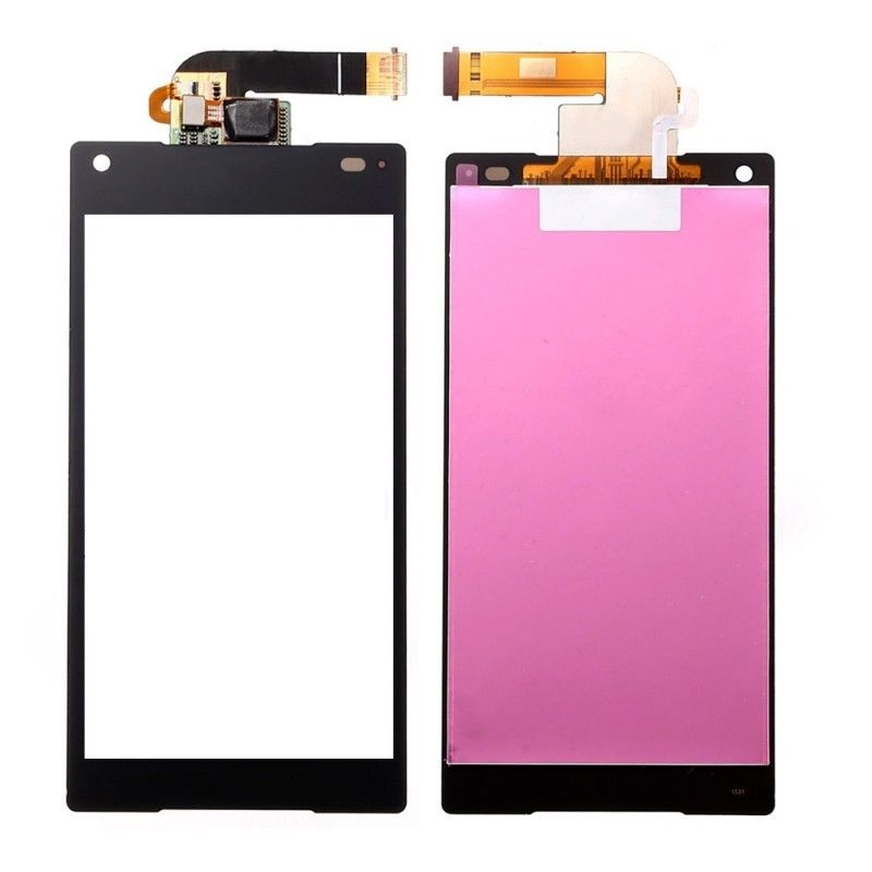 For 5Pcs/lot Sony Xperia Z5 Compact E5803 E5823 LCD And Touch Screen Digitizer Assembly - White BLACK