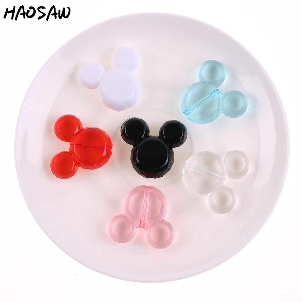 50Pcs/Lot 34*37mm Fashion DIY Jewelry Choose Color Chunky Acrylic Mouse Bead For Kids Handmade Jewelry Accessories50Pcs/Lot 34*37mm Fashion DIY Jewelry Choose Color Chunky Acrylic Mouse Bead For Kids Handmade Jewelry Accessories