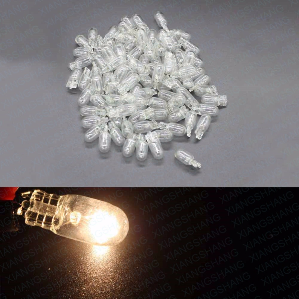 100Pcs T10 W5W 194/501 4300K 5W Wedges Clear Car Light Source Halogen Bulb Signal Interior instrument Lamp Auto Light White электромеханическая швейная машина vlk napoli 2100