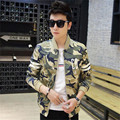 Leisure Camouflage Jacket 2017 New Hot Selling  Slim Men Jackets Popular  British Style Stand Collar Camouflage Jacket Male Coat