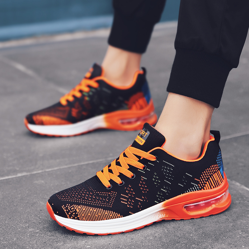 2019 Spring Men's Breathable Running Shoes Men Outdoor Sport Comfortable Lace-up Durable Jogging Sneakers Women Lovers Footwear