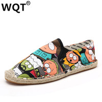 Slip On Shoes For Women 2017 Spring Cartoon Pattern Women Flat Shoes Summer Breathable Zapatillas Hombre Casual Lovers Loafers