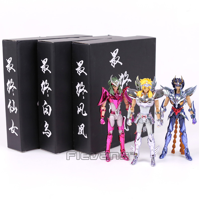 Saint Seiya Andromeda Shun / White Bird Hyoga / Phoenix Ikki Action Figure Collectible Model Toy 17cm