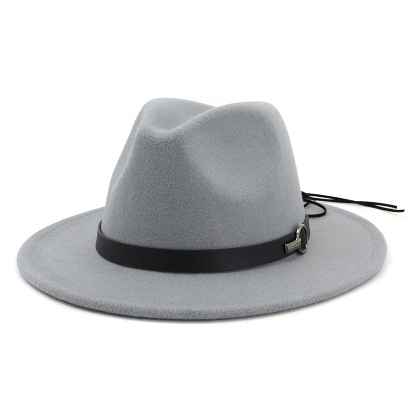 cb074fe7c4c QIUBOSS Women Wide Brim Wool Felt Jazz Fedora Hats Panama Style Ladies  Trilby Gambler Hat Fashion Party Cowboy Sunshade Cap ~ Top Deal June 2019